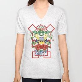 Floral Geometry I Unisex V-Neck