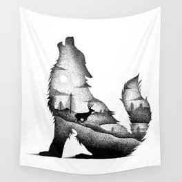 THE WOLF AND THE DEER Wall Tapestry
