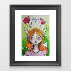 The Fox Tale Framed Art Print