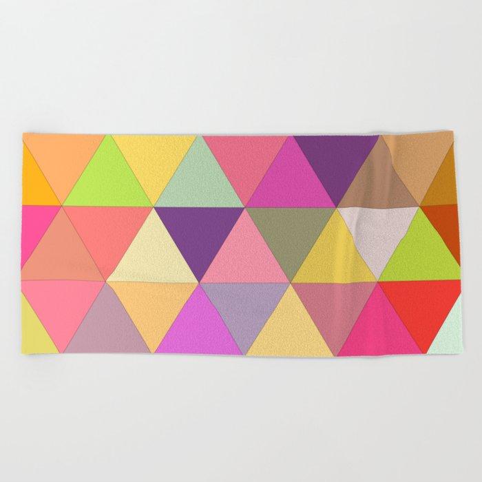 Happy geometry Beach Towel