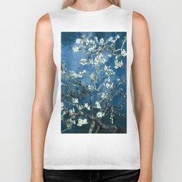 Van Gogh Almond Blossoms : Ocean Blue Biker Tank