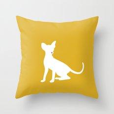 Cat Silhouettes: Oriental Throw Pillow