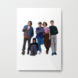 The Breakfast Club 80s movie Metal Print