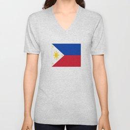 Flag of Philippines -Pilipinas,Filipinas,filipino,pinoy,pinay,Manila,Quezon Unisex V-Neck