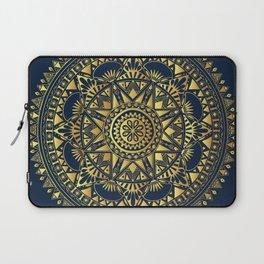 Blue & Gold Boho Pattern Laptop Sleeve