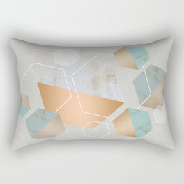 Honeycomb Concrete Rectangular Pillow