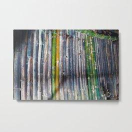 Bamboo Cave Metal Print