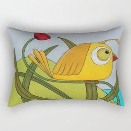 Yellow Wren Quail Rectangular Pillow