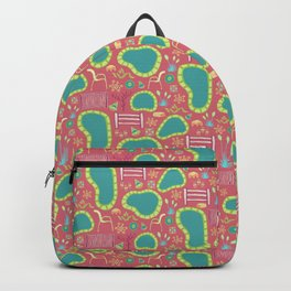 Hot Springs Spa Day - Pattern by Mellie Test Backpack