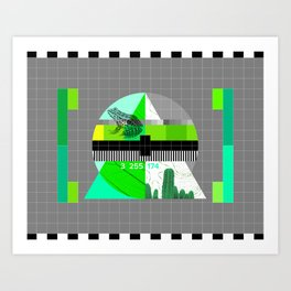 Waiting for the show to begin (Test Pattern 3) Art Print