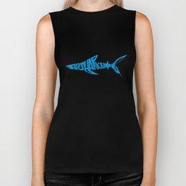 Stop Shark Finning (blue) Biker Tank