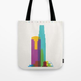 Shapes of Los Angeles accurate to scale Tote Bag