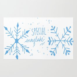 Special Snowflake (Blue) Rug