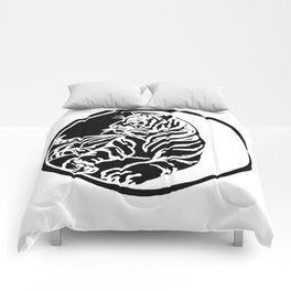 Tiger Tattoo - Black Comforters