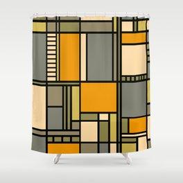 Frank Lloyd Wright Inspired Art Shower Curtain