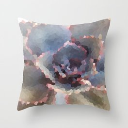 Crystallized Purple Succulent Throw Pillow