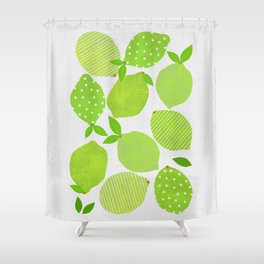 Lime Crowd Shower Curtain