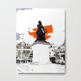 Jeanne Hachette Red Metal Print