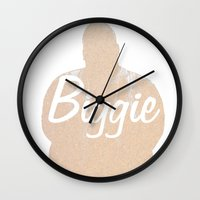 biggie Wall Clocks featuring Biggie by iulia pironea