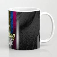 yolo Mugs featuring #YOLO by Shipwreck Moon Designs