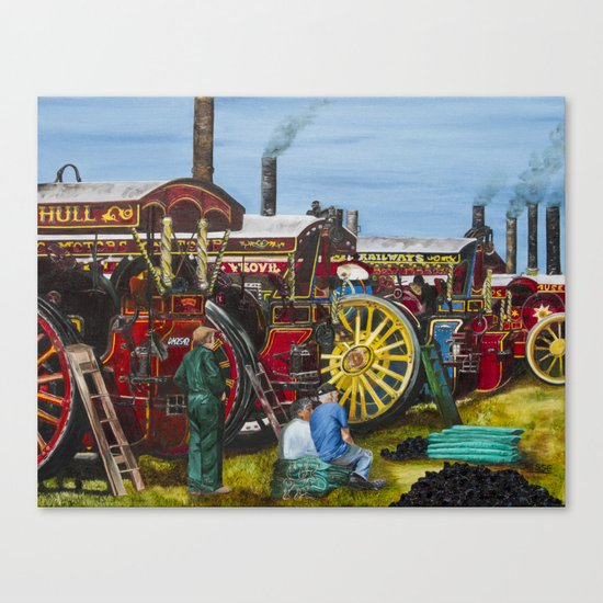 Day at the Steam Up Canvas Print