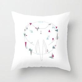elephant. geometric Throw Pillow
