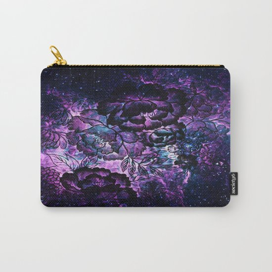 Magical Evening Floral Abstract Carry-All Pouch