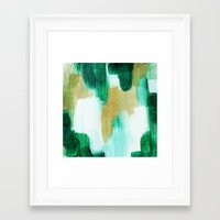 emerald Framed Art Prints featuring Emerald by Patricia Vargas