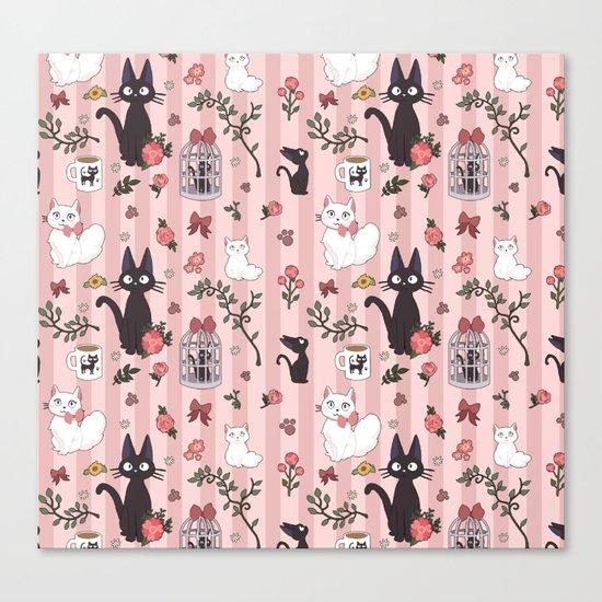 Jiji Cat Pattern Canvas Print