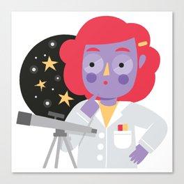 Vera the Scientist Canvas Print