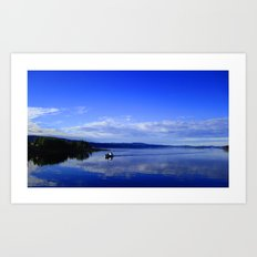 Summer in the fjord 2016 Art Print