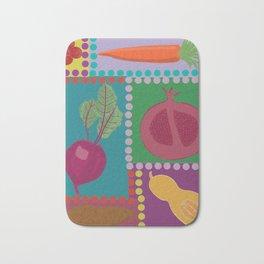Fun Fruits and Veggies Bath Mat