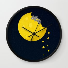 """""""If I could take a mouse to the moon…"""" Wall Clock"""