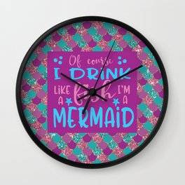 I'm A Mermaid Wall Clock
