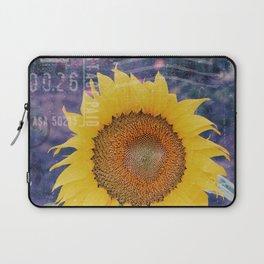 Tournesol Carte Postale - Sunflower Postcard Laptop Sleeve