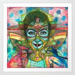 She Thought She Was Small and Trapped, But She Was Not Art Print