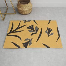 Fantasy flowers and leaves Rug