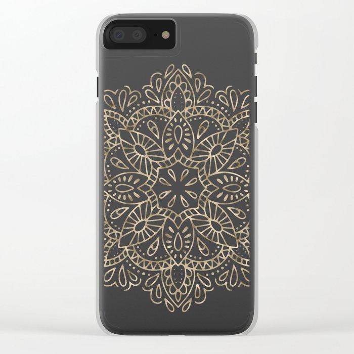 Mandala Gold Clear iPhone Case