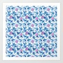 Ipomea Flower_ Morning Glory Floral Pattern by timone