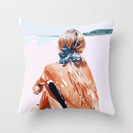 beach View V Throw Pillow