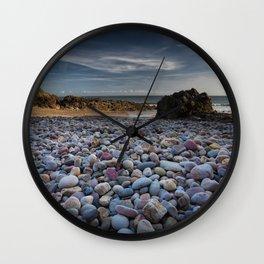 Rotherslade Bay Pebbles Wall Clock