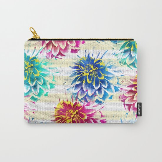 Colorful Dahlias Carry-All Pouch