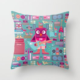 singpentinkhappy band II Throw Pillow