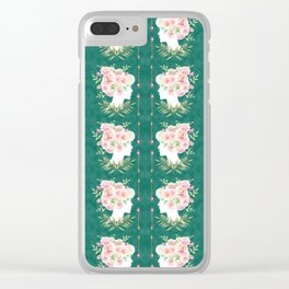 Abstract Roses Fairy Clear iPhone Case