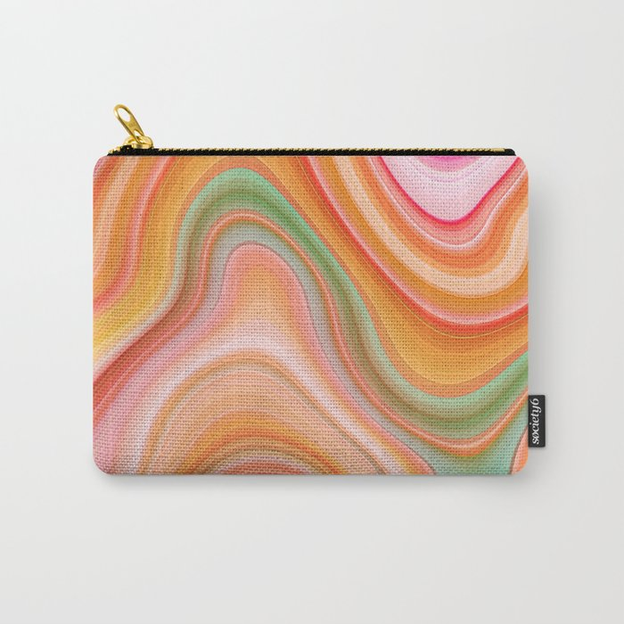 Bubble gum memories - Abstract Pink Pattern Carry-All Pouch