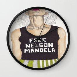 Free Nelson Mandella Wall Clock