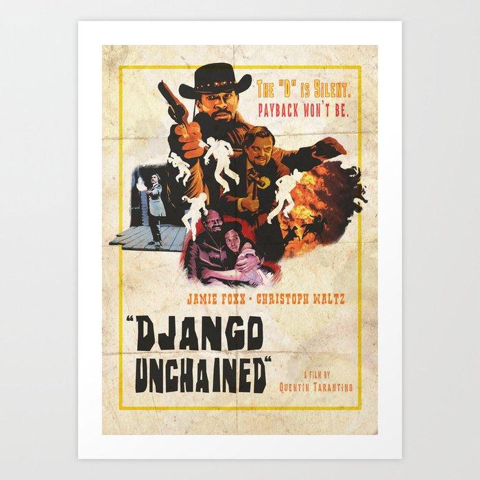 Django unchained alternative poster Kunstdrucke