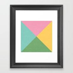 four triangles - spring Framed Art Print