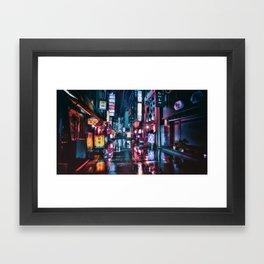 Tokyo at Night Framed Art Print