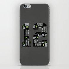 Seattle 12th Man - Black iPhone & iPod Skin